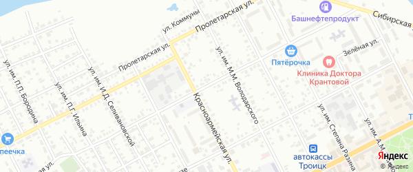 Улица им С.И.Ловчикова на карте Троицка с номерами домов