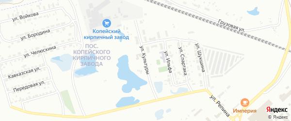 Улица Культуры на карте Копейска с номерами домов
