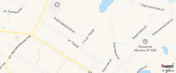 Труда 2-я улица на карте села Кунашака с номерами домов