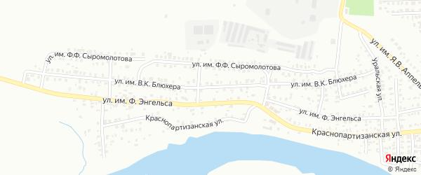 Улица им В.К.Блюхера на карте Троицка с номерами домов