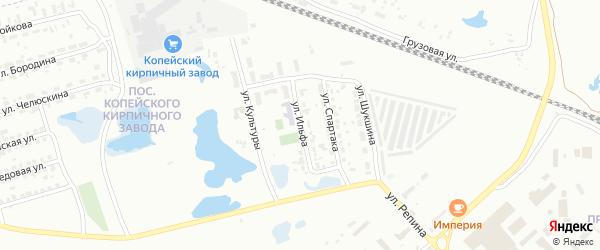Улица Ильфа на карте Копейска с номерами домов
