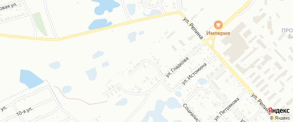 Улица Гладкова на карте Копейска с номерами домов