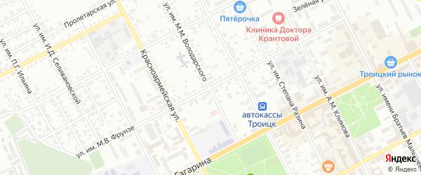 Улица им М.С.Малинина на карте Троицка с номерами домов