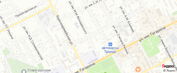 Улица им М.С.Бабушкина на карте Троицка с номерами домов