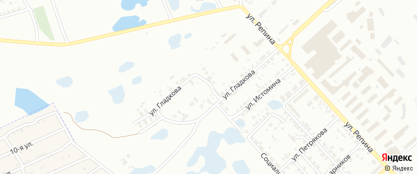 Переулок Гладкова на карте Копейска с номерами домов
