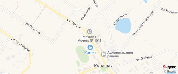 Улица Ленина на карте села Кунашака с номерами домов