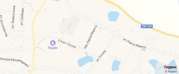 Переулок Карла Маркса на карте села Кунашака с номерами домов