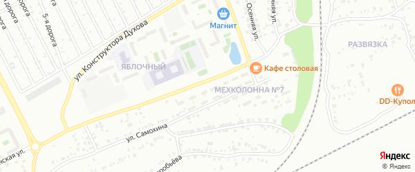 Улица Мехколонна-7 на карте Челябинска с номерами домов