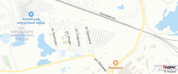 Улица Шукшина на карте Копейска с номерами домов