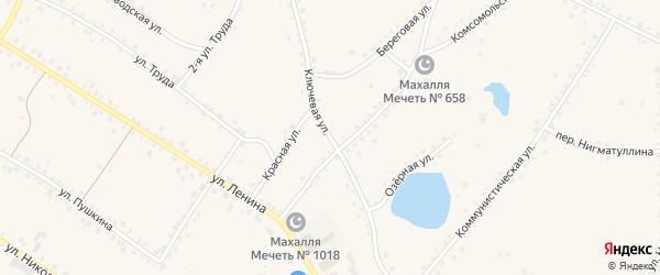 Ключевая улица на карте села Кунашака с номерами домов