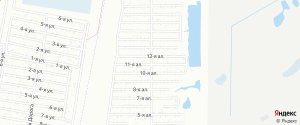 СНТ Пластмасс-2 на карте Копейска с номерами домов