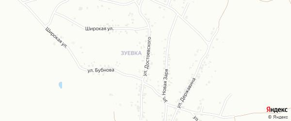 Улица Достоевского на карте Копейска с номерами домов