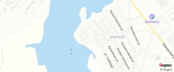 Безымянная улица на карте Троицка с номерами домов