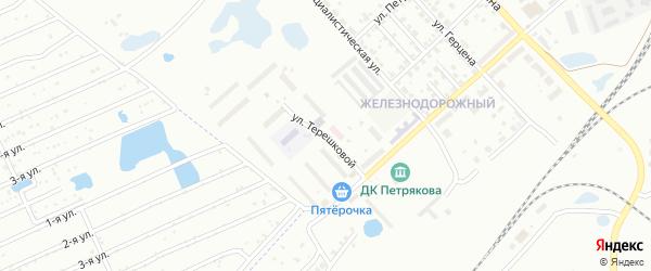 Улица Терешковой на карте Копейска с номерами домов