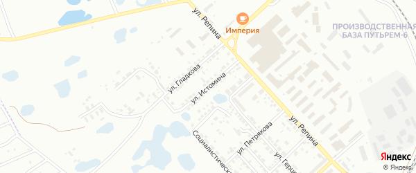Улица Истомина на карте Копейска с номерами домов