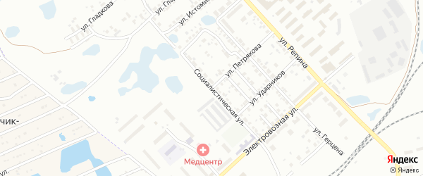 Социалистическая улица на карте Копейска с номерами домов