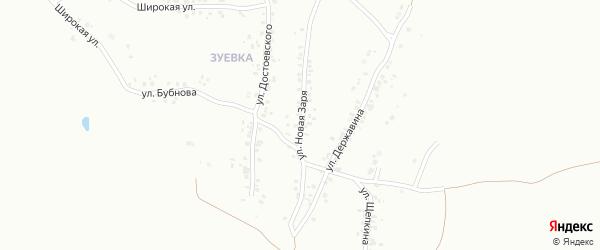 Улица Новая Заря на карте Копейска с номерами домов