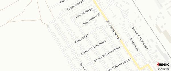 Садовая улица на карте Троицка с номерами домов
