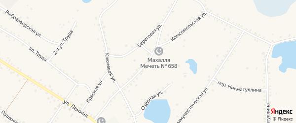 Комсомольская улица на карте железнодорожной станции Муслюмово с номерами домов