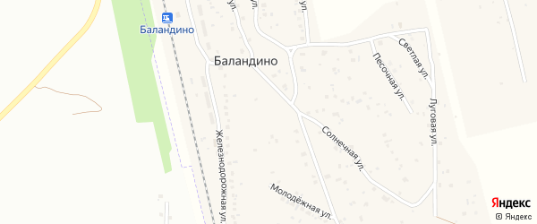 Советская улица на карте поселка Баландино с номерами домов