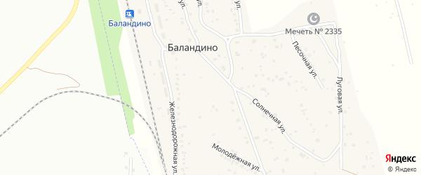 Кирпичная улица на карте поселка Баландино с номерами домов