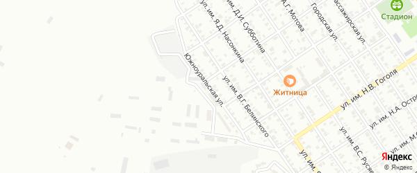 Южноуральская улица на карте Троицка с номерами домов