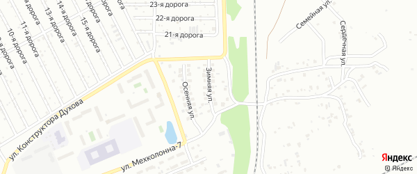 Зимняя улица на карте Челябинска с номерами домов