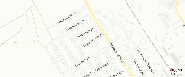 Техническая улица на карте Троицка с номерами домов