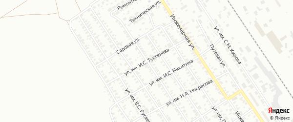 Улица им И.С.Тургенева на карте Троицка с номерами домов