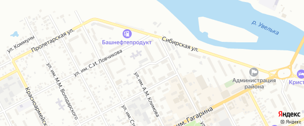 Зеленая улица на карте Троицка с номерами домов