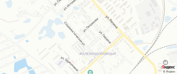 Переулок Ударников на карте Копейска с номерами домов