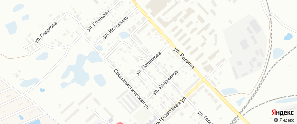 Улица Петрякова на карте Копейска с номерами домов
