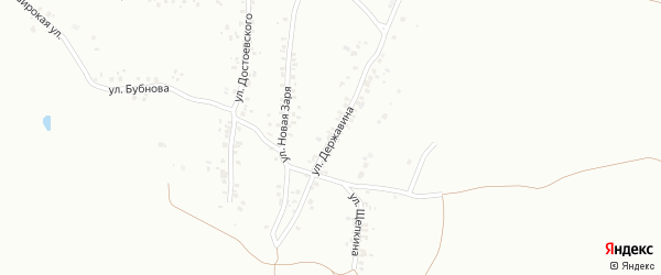 Улица Державина на карте Копейска с номерами домов