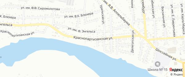 Краснопартизанская улица на карте Троицка с номерами домов