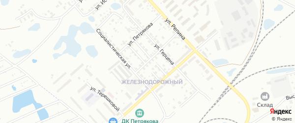 Улица Ударников на карте Копейска с номерами домов