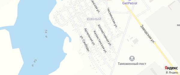 Артельная улица на карте Троицка с номерами домов