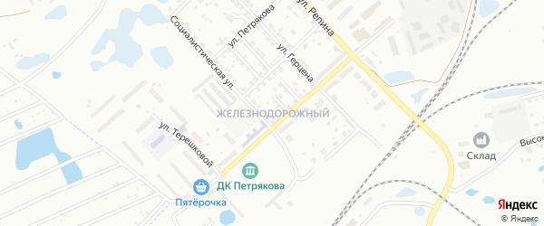 Железнодорожный ГСК на карте Копейска с номерами домов