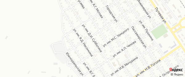 Улица им Д.И.Субботина на карте Троицка с номерами домов