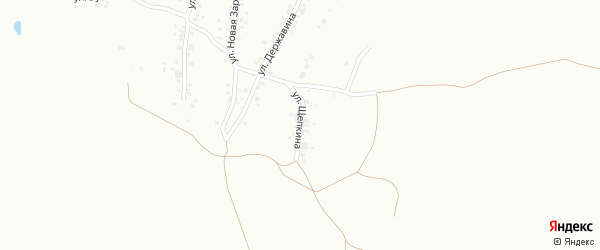 Улица Щепкина на карте Копейска с номерами домов