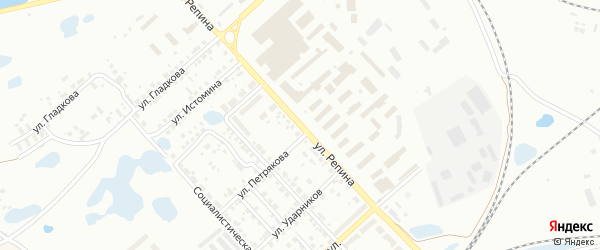 Улица Репина на карте Копейска с номерами домов