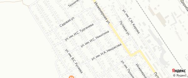 Улица им И.С.Никитина на карте Троицка с номерами домов