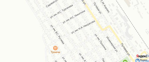 Улица им Н.А.Некрасова на карте Троицка с номерами домов