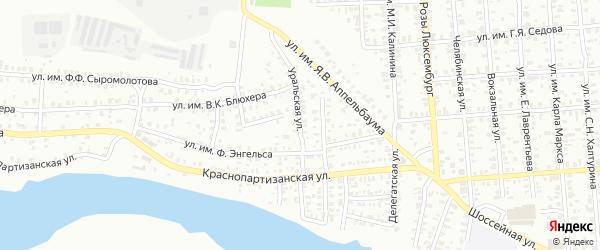 Уральская улица на карте Троицка с номерами домов