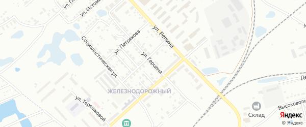Улица Герцена на карте Копейска с номерами домов