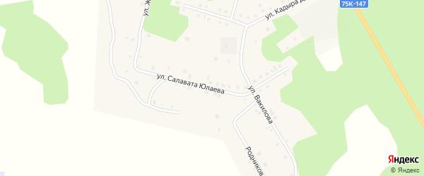 Улица Салавата Юлаева на карте села Кунашака с номерами домов
