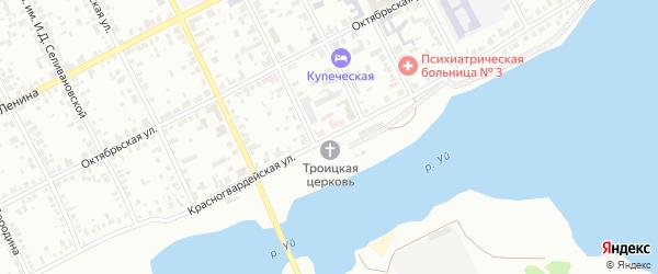 Красногвардейская улица на карте Троицка с номерами домов