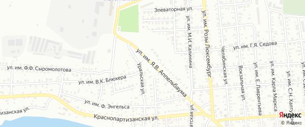 Нагорная улица на карте Троицка с номерами домов