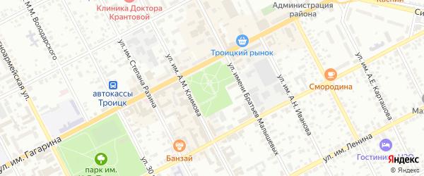 Улица им Павлика Морозова на карте Троицка с номерами домов