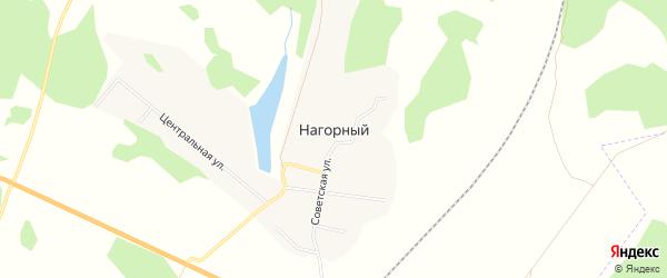 Карта Нагорного поселка в Челябинской области с улицами и номерами домов