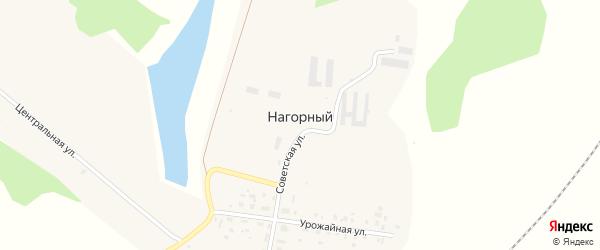 Луговая улица на карте Нагорного поселка с номерами домов